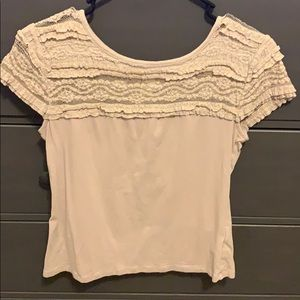 Lace topped t shirt